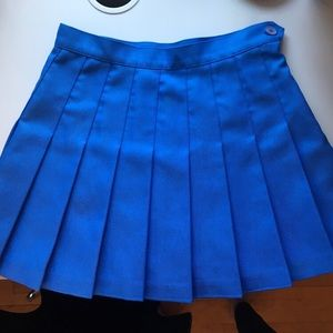 blue american apparel tennis skirt